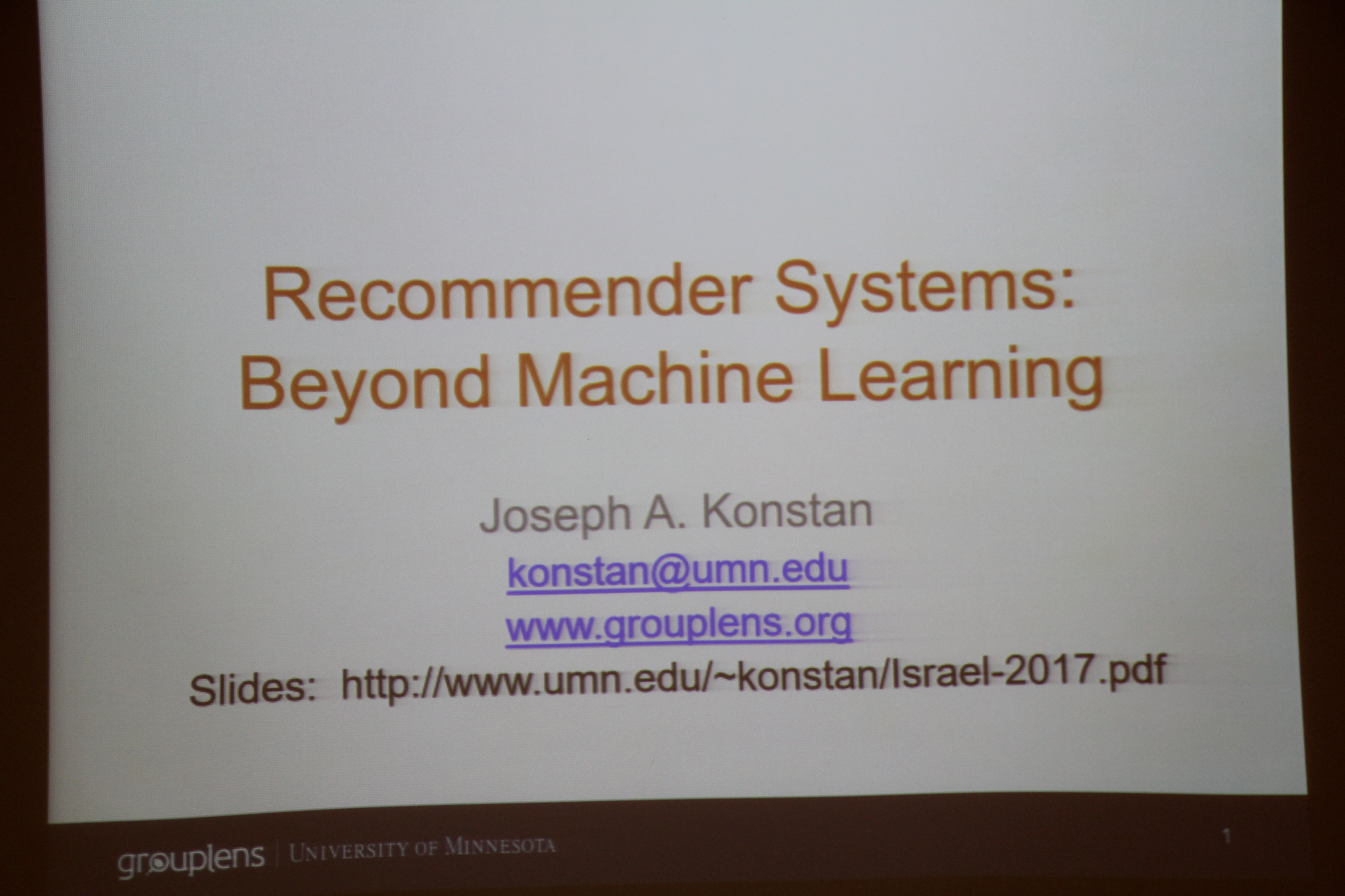 Photo Album - Distinguished Lecture: Recommender Systems
